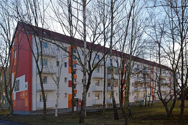 Hausansicht: 2-Raum-Wohnung Vogelweide 66