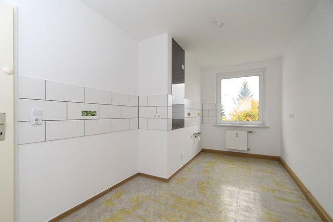 Küche-Beispiel: 3-Raum-Wohnung Homerstraße 1