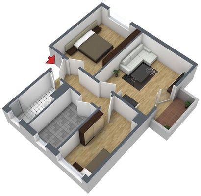 Grundriss: 3-Raum-Wohnung Rockendorfer Weg 97b