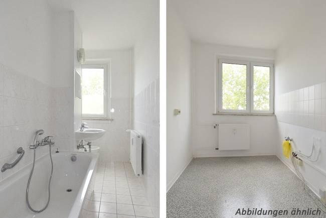 Bad-Küche: 3-Raum-Wohnung Hildesheimer Straße 19