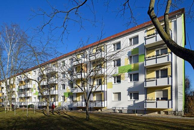 Hausansicht: 3-Raum-Wohnung Moskauer Straße 26