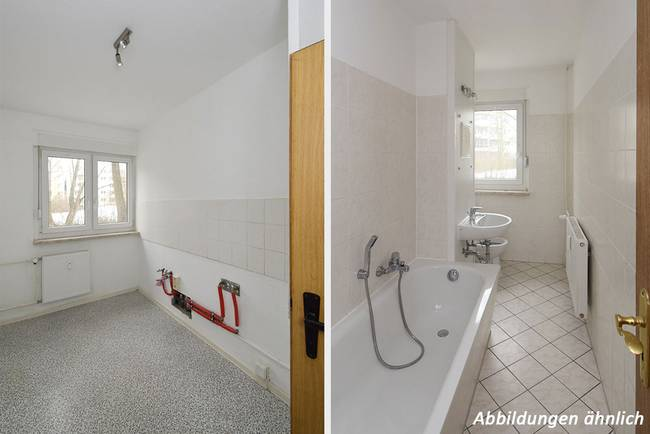 Küche/Bad: 3-Raum-Wohnung Züricher Straße 18