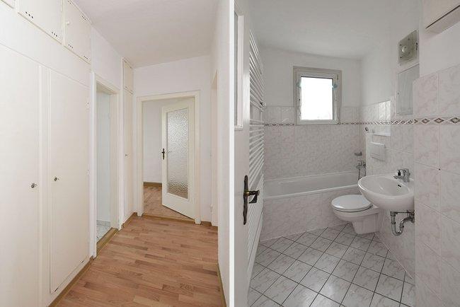 Flur-Bad: 3-Raum-Wohnung Vogelweide 50