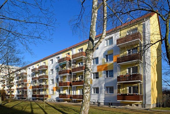 Hofansicht: 3-Raum-Wohnung Moskauer Straße 34