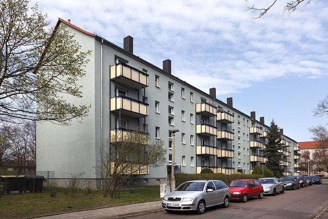 Hausansicht: 2-Raum-Wohnung Kurt-Freund-Straße 11