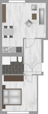 Grundriss: 2-Raum-Wohnung Genthiner Straße 14
