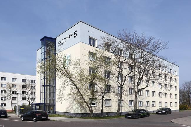 Hausansicht: 1-Raum-Wohnung Kattowitzer Straße 5