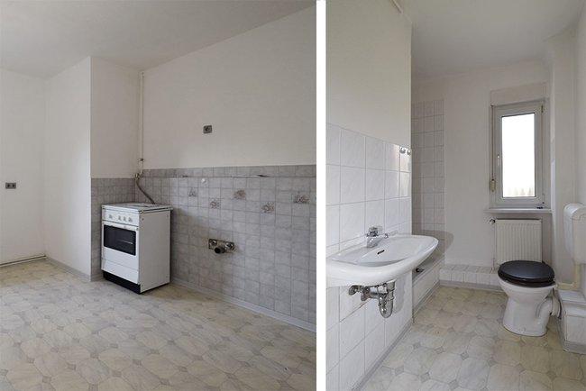 Küche/Bad: 1-Raum-Wohnung Eugen-Schönhaar-Straße 8
