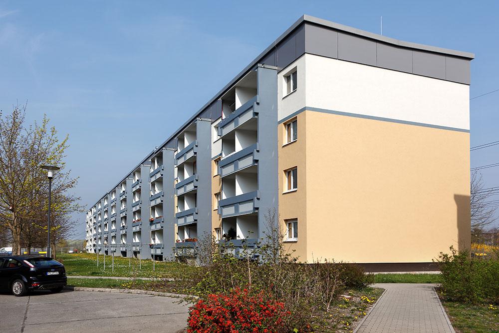 Giebel: 3-Raum-Wohnung Schilfstraße 17